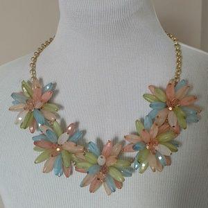 Beaded Flower / Firework Necklace